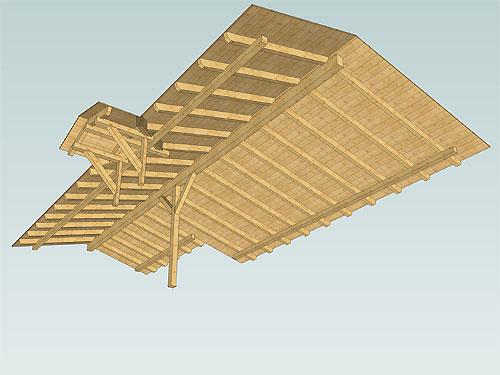 Pfettendachkonstruktion als Satteldach