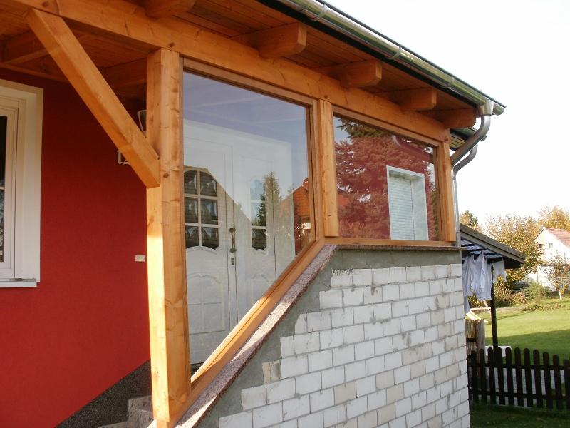 Vordach mit Fenstern