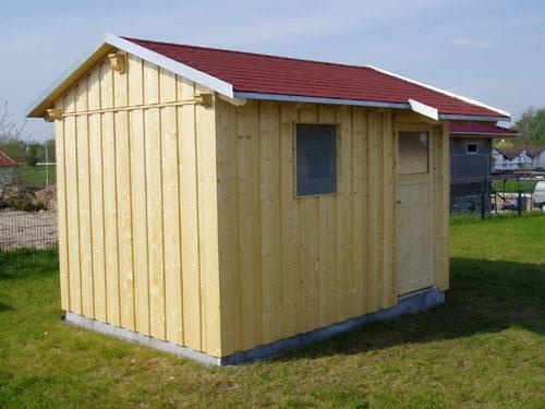 Gartenhaus mit einem Satteldach