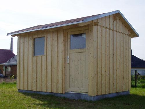Gartenhaus mit einem satteldach for Boden deckel schalung