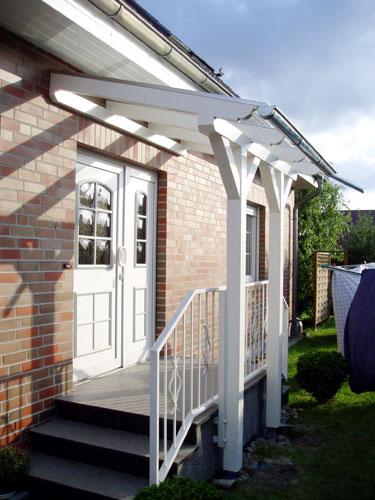 Vordächer mit transparenter Eindeckung