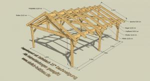 doppelcarport mit satteldach 5 00 x 7 00 m grundfl che. Black Bedroom Furniture Sets. Home Design Ideas