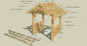 Vordach Satteldach 2,00 x 1,80 m Grundfläche